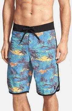 Abstract Leaf Flower Men/â/€s Beach Board Shorts Quick Dry Swim Truck Shorts