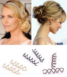 """Goody Spin Pins - What can I say? They work! I suck at doing cute things with my hair, which is why it's always up.  These, for me, are a """"fancier"""" alternative to the ponytail holder."""