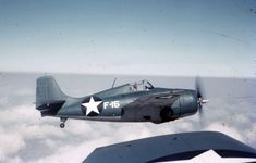 "This Grumman F4F-3 Wildcat is marked F-15, as was the fighter flown by Butch O'Hare on 20 February 1942. The definition of this image is insufficient to read the fighter's ""Bu. No."""