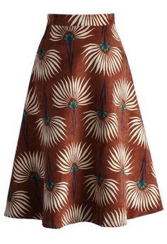 Dandelions Corduroy A-line Skirt in Tan - New Arrivals - Retro, Indie and Unique Fashion