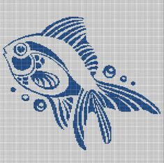 Digital computer model - not printed on paper This is a pattern only Not a kit or finished piece No fabric or floss are included in this listing Stitch Counts Cross Stitch Sea, Cross Stitch Charts, Cross Stitch Patterns, Cross Stitching, Cross Stitch Embroidery, Crochet Fish Patterns, Pixel Art, Giraffe Crochet, Carpe Koi