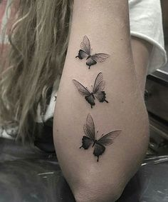 3D Flying Butterflies on Arm Looks Beautiful on Girls