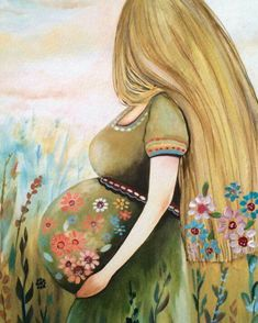 claudia tremblay mother and daughter Claudia Tremblay, Art Amour, Birth Art, Pregnancy Art, Pregnancy Gifts, Mother Art, Mothers Love, Belle Photo, Wall Art Decor