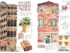 Art & Travel book that shows the beauty of Venice through the impressions of a watercolor artist. All the drawings were made on place by the artist. Not only the main landmarks but also small details such as street signs, vaporetto tickets, legends, history, maps, sketches, curiosities, practical tips...     A perfect souvenir if you have visited the city, a different visual guide if you haven't yet, and an original gift for anyone who loves Venice.
