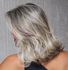 Medium Layered Blonde Balayage Hairstyle
