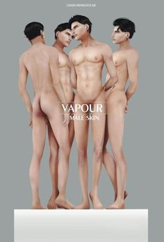 Vapour Male Skin for The Sims 4