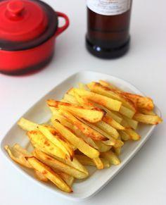 Patatas fritas crujientes sin aceite en el horno