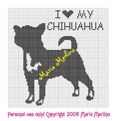 All kinds of patterns for filet crocheting - I would modify the ears on this one to make it into a French bulldog!