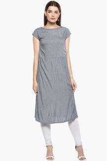 Womens Round Neck Stripe Kurta Dresses For Work, Stuff To Buy, Design, Women, Fashion, Moda, Women's, La Mode, Fasion
