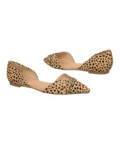Look at this Tan & Black Leopard Tivoli D'Orsay Calf-Hair Flat on #zulily today!