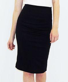 Loving this Black Pencil Skirt - Women on #zulily! #zulilyfinds