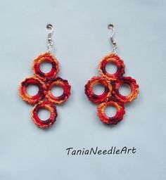 Handcrafted Jewerly Unique Crochet Earrings by TaniaNeedleArt, $7.90