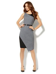 Shop 7th Avenue Suiting Collection Sheath Dress - Grey. Find your perfect size online at the best price at New York & Company.