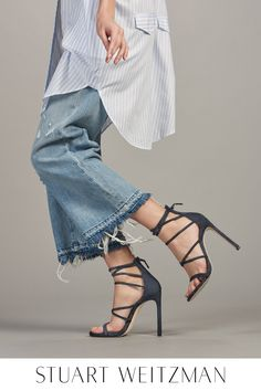 Kickstart fall with brand new Stuart Weitzman styles. From sexy stilettos to sophisticated sandals to fabulous flats to perfect platforms, there's a silhouette for every step of the day. Handcrafted from unique materials, including denim, velvet, exotic-printed calf hair and beyond, these luxurious designs are sure to turn heads. Shop new arrivals at StuartWeitzman.com.