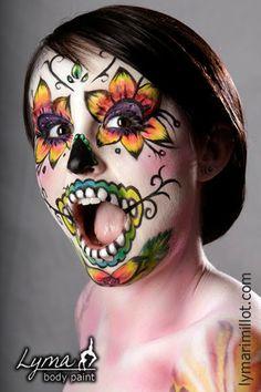 BODY PAINT by Lymari Millot: FACE PAINT FOR DIA DE LOS MUERTOS