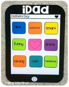 iDad craft for Father's Day! Will make this the last week of school! I am going to make this for fathers day! Classroom Crafts, Classroom Fun, Fathers Day Crafts, Happy Fathers Day, Cadeau Parents, Father's Day Activities, Daddy Day, Mother's Day Diy, Grandparents Day