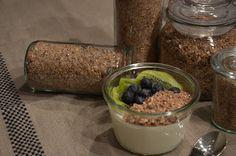 Müsli-Topping für joghurt, Quark und frische Früchte