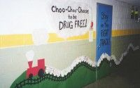 cute idea with the train and tracks for next year for classroom theme (jones' kdg junction)