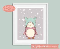 Nursery Wall Art, Nursery Printable, Penguin Nursery, Penguin Nursery Art, Printable Nursery Art, Nursery Print, Unisex, Instant Download
