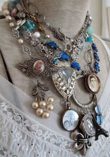 """The French Circus"" ~ I love mixed media necklaces! A mix of vintage and new. :)"