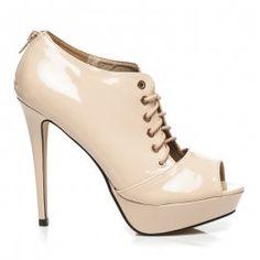 Topánky s otvorenou špičkou EN1060BE Boots, Heels, Fashion, Crotch Boots, Heel, Moda, Fashion Styles, Shoe Boot, High Heel