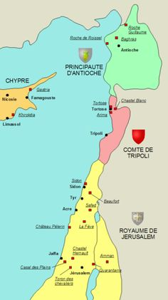 Knights Templar: #Knights #Templar fortresses in the Outremer.