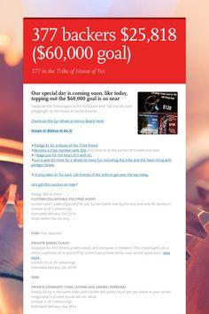 377 backers $25,818  ($60,000 goal)
