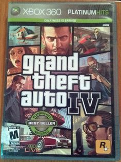 XBOX 360 PLATINUM HITS GRANT THEFT AUTO 4 BEST SELLER AWARDED RATED M 17+ $15.00