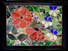 Mosaic Tray, Mosaic Glass, Stained Glass, Mosaic Designs, Mosaic Ideas, Mosaic Furniture, Mosaic Flowers, Crafty, Tiffany