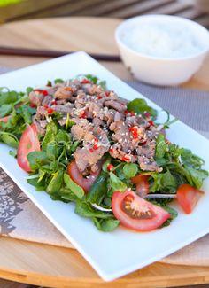 Vietnamese watercress beef salad