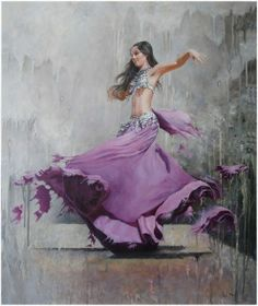 World Ethnic & Cultural Beauties (Search results for: dance) Bd Art, Arabian Women, Dance Paintings, Tribal Fusion, Foto Art, Jolie Photo, Belly Dancers, World Of Color, Shades Of Purple