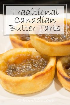 This traditional Canadian butter tarts recipe is so buttery and delicious, it's one of my most favorite dessert recipes ever! Made with raisins or without, these are the best butter tarts I've ever tasted.and definitely are delicious desserts. Recipe For Butter Tarts, Canadian Butter Tarts, Tarts Recipe, Party Desserts, Dessert Recipes, Mini Desserts, Dessert Tarts, Italian Desserts, Appetizer Recipes