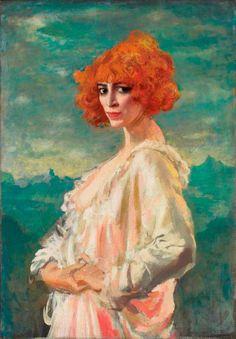 Augustus Edwin John – The Marchesa Casati, 1919 – Oil on canvas, 96.5 × 68.6 cm – Toronto, Art Gallery of Ontario
