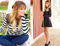 Lauren Conrad. Hair inspiration. I never know to grow the bangs or cut them.