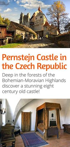 Pernstejn Castle in the Czech Republic - One of the most beautiful castles in the Czech Republic, this eight century old castle is hidden deep in the Bohemian-Moravian Highlands. Visit and let us celebrate our 100 years together! #czechrepublic #europe #travel #castles #100Years