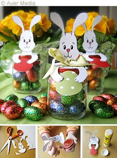 DIY Easter Bunny Jars with Template