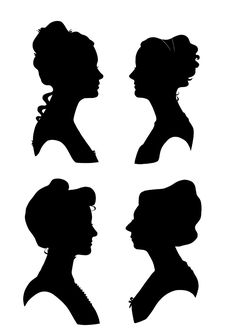 Silhouette images victorian | Victorian Silhouettes People Pictures