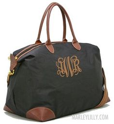 Monogram weekender bag in a few other colors and font colors