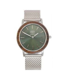 VONDEL - WATCH SILVER WALNUT designed by TWO-O Design & Craftsmanship made in Netherlands as part of Fashion and Men and Accessories and Women and Accessories tagged Silver gifts and Steel jewellery and Wood accessories - image 1 on CROWDYHOSUE
