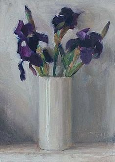 Daily paintings | Irises in a white vase | Postcard from Provence Julian Merrow-Smith,