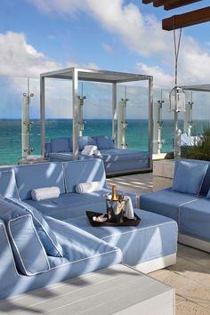 Grand Beach Hotel Surfside (Miami Beach, FL The rooftop pool lounge offers stunning panoramic ocean views. Miami Beach Hotels, Beach Resorts, Outdoor Living, Outdoor Spaces, Pool Lounge, Rooftop Pool, Beach Bars, Beach Pool, Snuggles