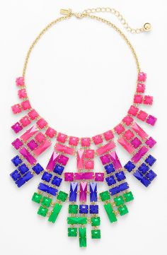 Captivated by this colorful Kate Spade bib necklace!