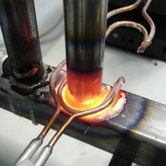 induction brazing steel to steel