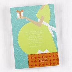Baby on the Way - Bright White Invitation.  This is a fun way to announce your pregnancy to family and friends.