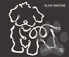 K Line Maltese Dog Car Window Decal Tattoo http://doggystylegifts.com/products/k-line-maltese-dog-car-window-decal-tattoo