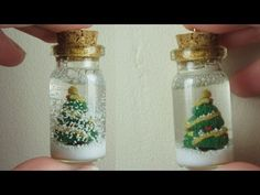 ▶ Christmas Tree Snowglobe/Bottle Charm; Polymer Clay Christmas Tutorial.
