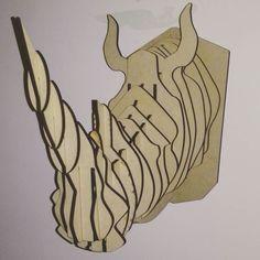 #rhino #trophy #lasercut by omar0215