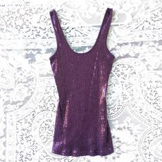 Express Purple Sequence Tank! *Priced to Sell!* Express Purple Sequence Tank Top! *Priced to Sell* Express Tops Tank Tops
