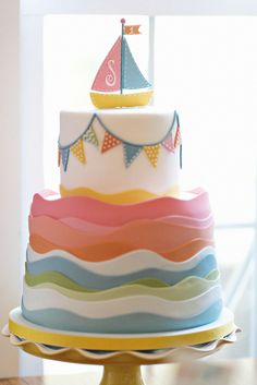 Amazing cake from Charm City Cakes at a Nautical birthday party!  See more party ideas at CatchMyParty.com!