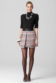 ShopStyle: MillyNaomi Pleat Skirt